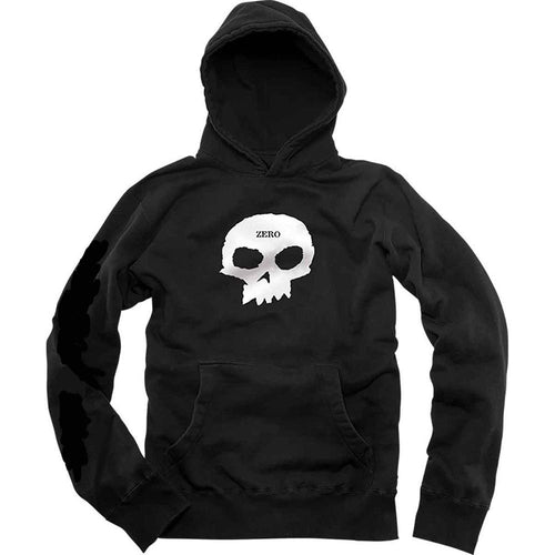 Zero Skateboards Single Skull Hood - Black