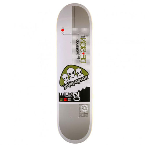 Alien Workshop Yaje Popson Triad Icon Skateboard Deck - 8.375