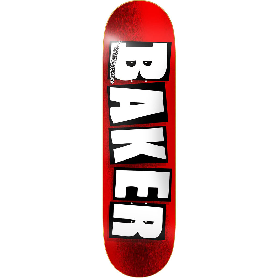 Baker Skateboards Brand Logo Deck - Red Foil - 8.5