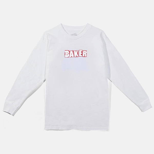 Baker Brand Logo Long Sleeve White/Red