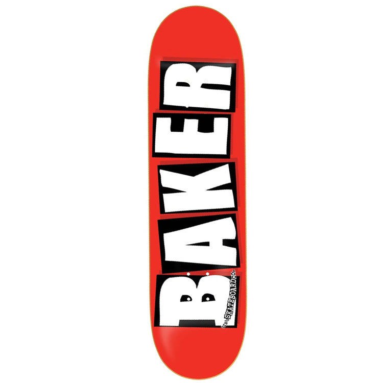 Baker Skateboards Brand Logo Skateboard Deck Red/White - 8.125