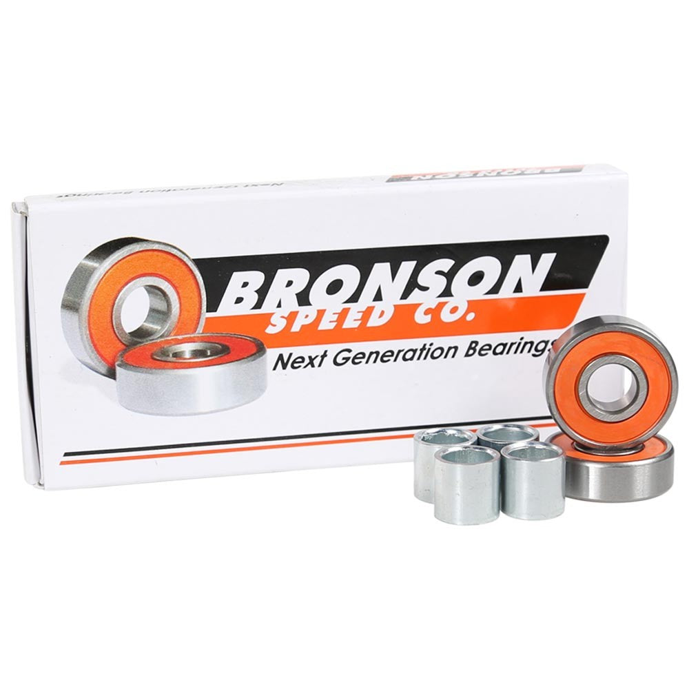 Bronson Speed Co. G2 Skateboard Bearings - Orange