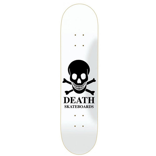 Death Skateboards OG Skull Skateboard Deck - White/Black - 8.1