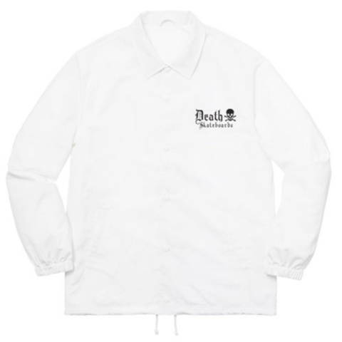 Death Skateboards Coach Jacket - White