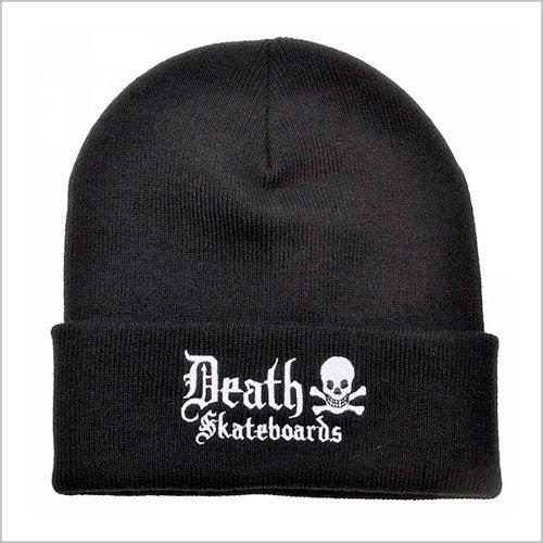 Death Skateboards Old English Beanie - Black/White