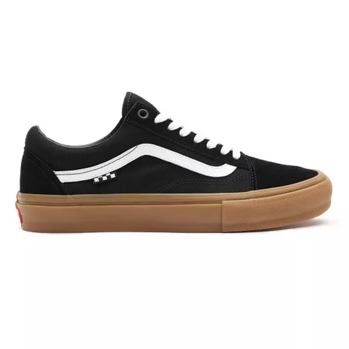 Vans Old Skool Pro Skateboard Shoes - Black/White/Gum