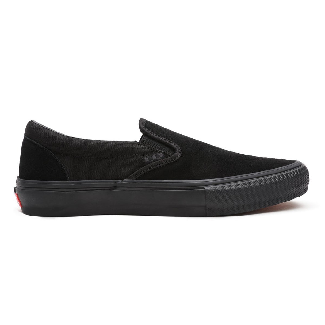 Vans Slip-On Pro Skate Skateboarding Shoes (Tec Tuff) - Black/Black