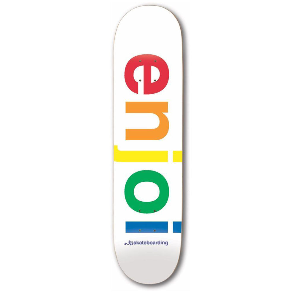 Enjoi Skateboards Spectrum White Skateboard Deck - 9.00