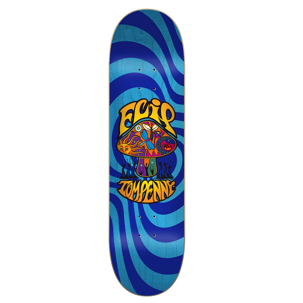 Flip Tom Penny Loveshroom Skateboard Deck Blue Stain - 8.00