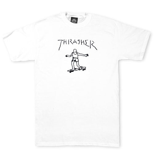 Thrasher Magazine Gonz T-Shirt - White/Black