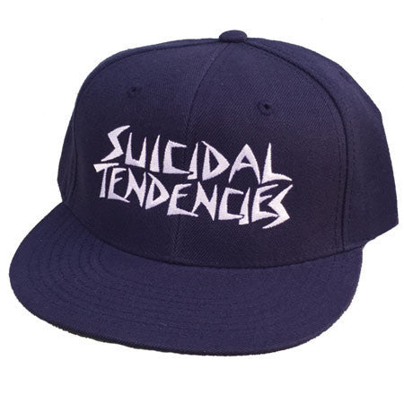 Suicidal Tendencies OG Embroidered Snapback Cap - Navy