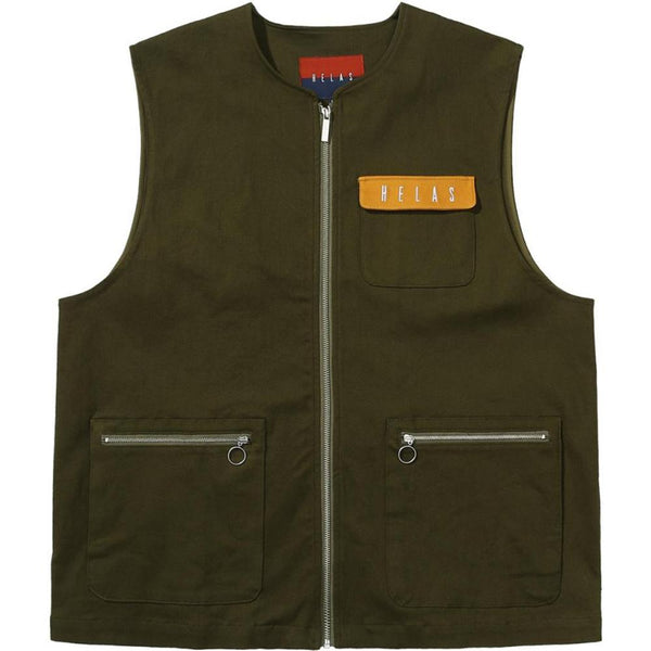 Helas Utile Sleeveless Gilet Jacket - Green