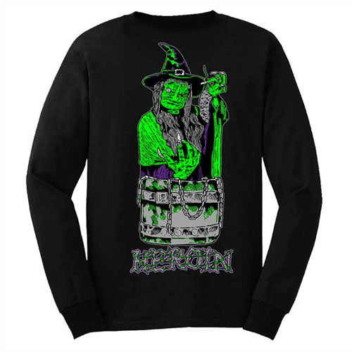 Heroin Skateboards Ditch Witch Longsleeve T-Shirt - Black