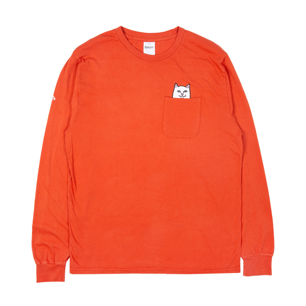 RIPNDIP Lord Nermal Long Sleeve - Texas Orange