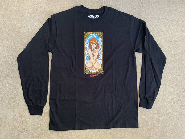 Hook Ups Jk Industries Angel Girl Long Sleeve - Black