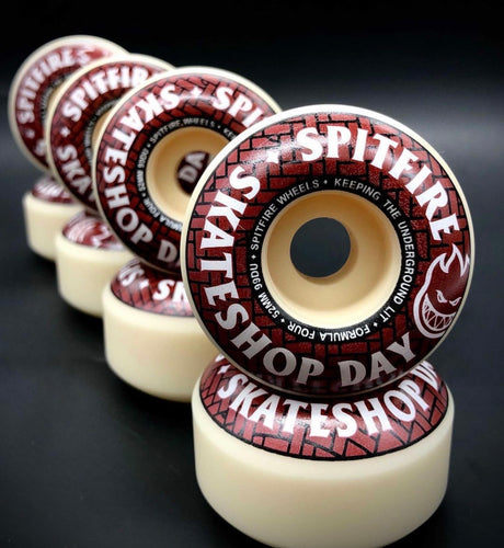 Spitfire Wheels 99a Formula Four Skateboard Wheels (Skate Shop Day) - 52mm