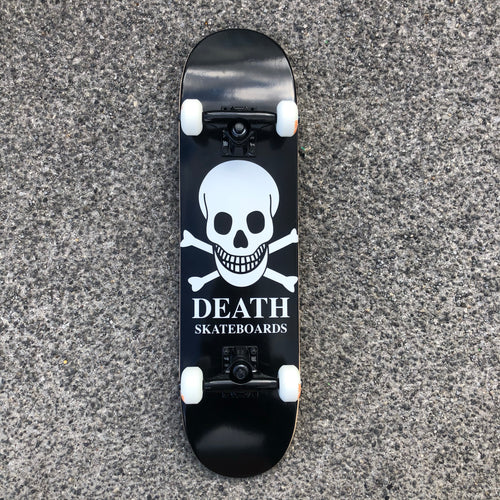 Death Skateboard Complete OG Skull Black  - 7.25 (mini)