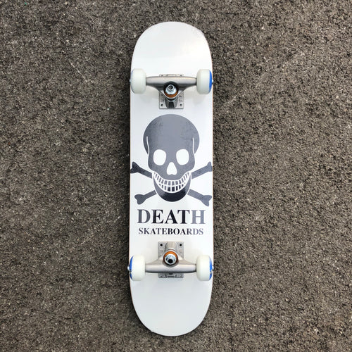 Death Skateboard Complete OG Skull White  - 7.25 (mini)