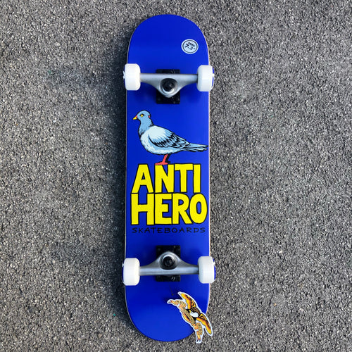 Anti Hero Pigeon Hero Mini Complete Skateboard Purple - 7.3 (mini)