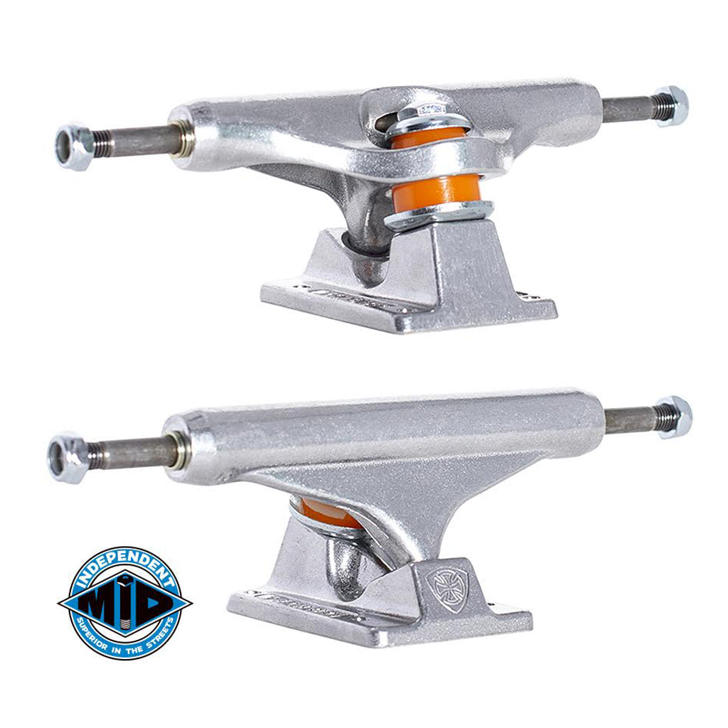 Independent Mid Skateboard Truck Polished Silver - 144