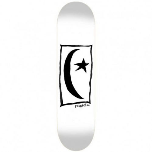 Foundation Star & Moon Square Skateboard Deck - 8.5