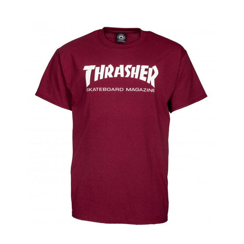 Thrasher Magazine Logo Outline T-Shirt - Maroon