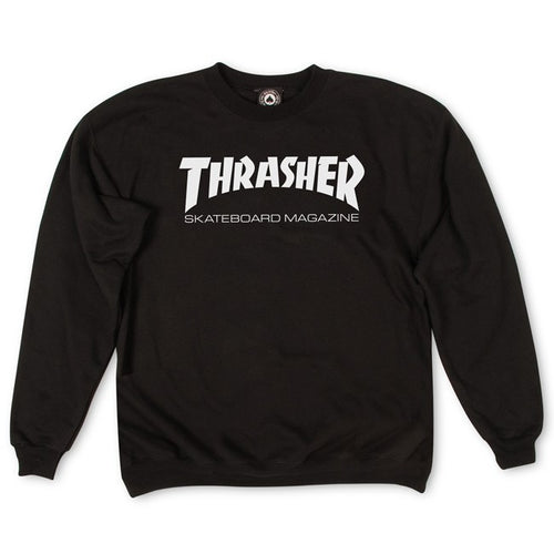 Thrasher Magazine Logo Crew Neck - Black