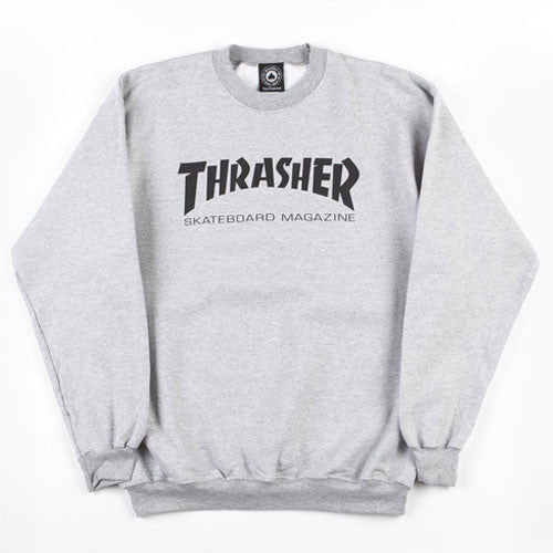 Thrasher Magazine Logo Crew Neck - Grey