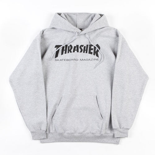 Thrasher Magazine Logo Hood Heather