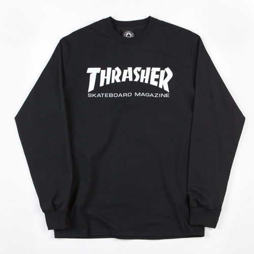 Thrasher Magazine Logo Long Sleeve T-shirt - Black
