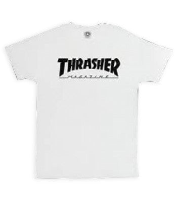 Thrasher Magazine Logo T-Shirt - White
