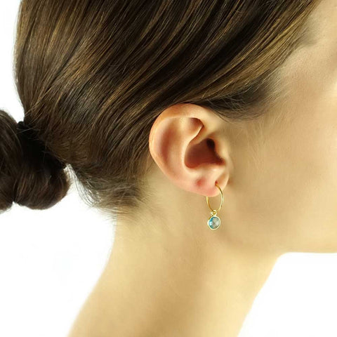 hoop earrings - topaz