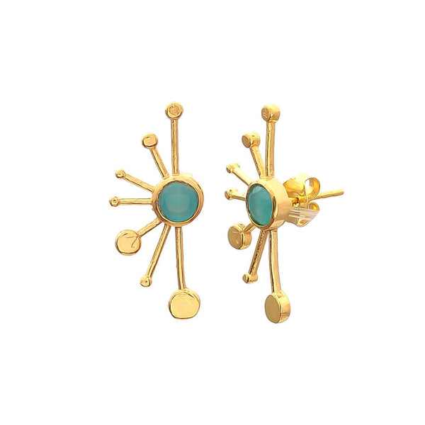 vero Sunburst spike EARRINGS - aqua