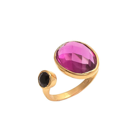 Anais COCKTAIL RING - raspberry