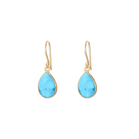 peardrop earrings - turquoise