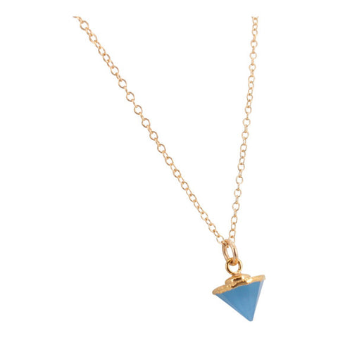 Allegra blue spike NECKLACE