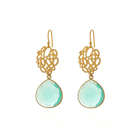 AMALFI EARRINGS - aqua