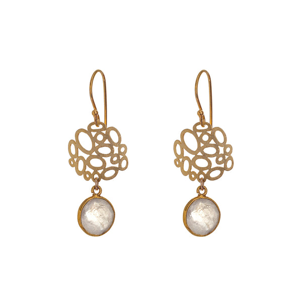 AMALFI EARRINGS - MOONSTONE