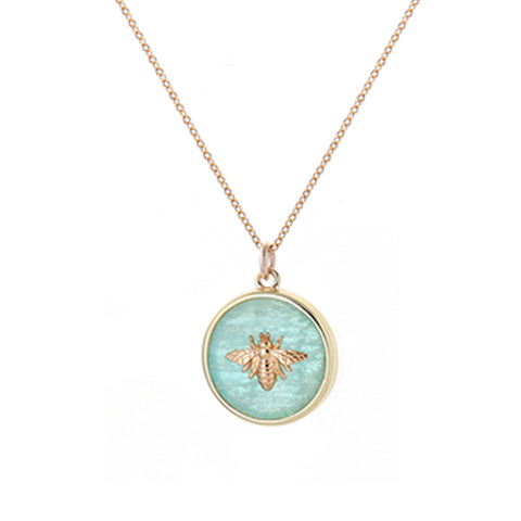 bee NECKLACE - aqua