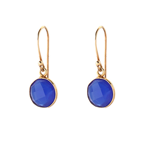 sophie drop earrings - sapphire blue