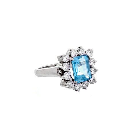Zara cocktail RING - topaz