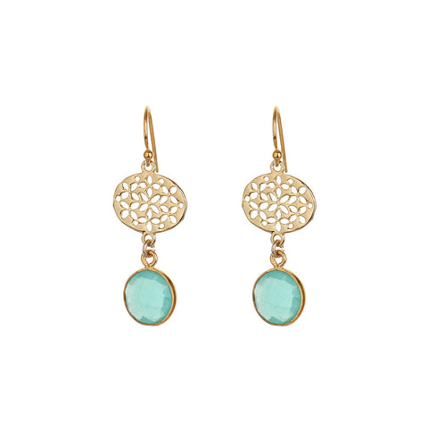 BOHO EARRINGS - AQUA