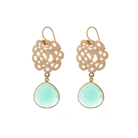 Bubble EARRINGS - aqua