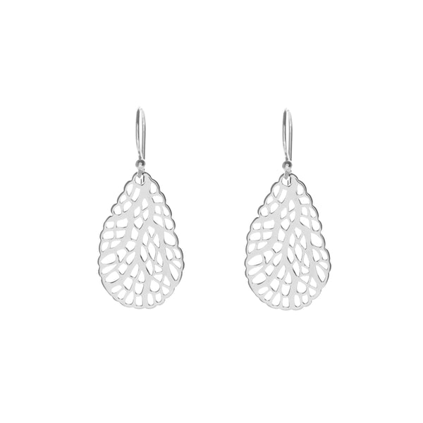 CORAL EARRINGS - silver