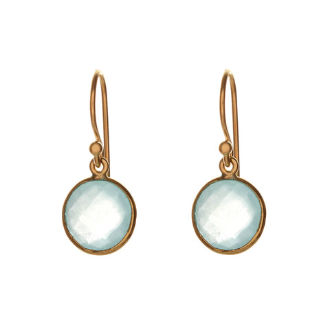 sophie drop earrings - aqua