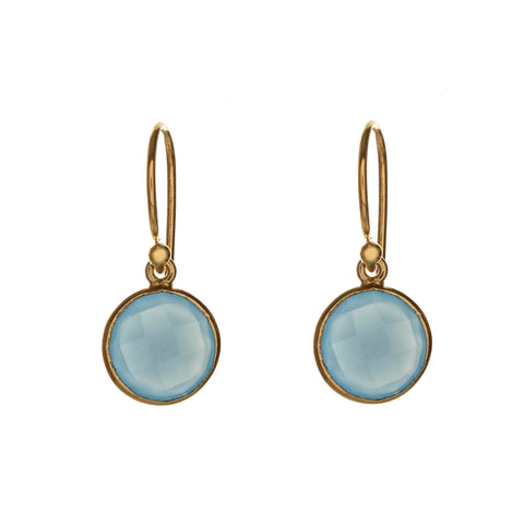 sophie drop earrings - sky blue