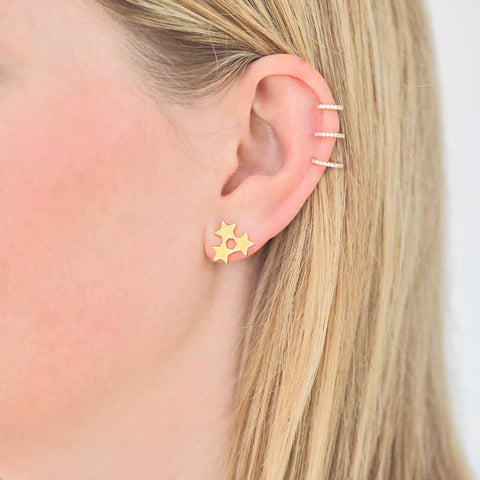 sophie ear cuff - triple - no piercing