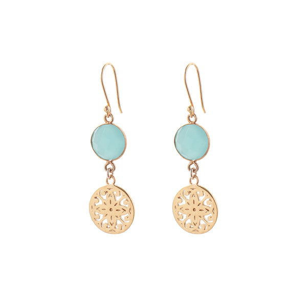 Poppy BOHO EARRINGS - aqua