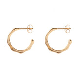 hammered molten hoops - gold