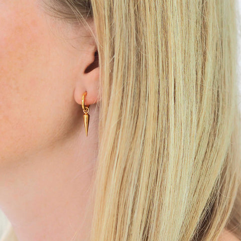 alissa spike HOOP EARRINGS - small hoop - light small spike | spikes | earring